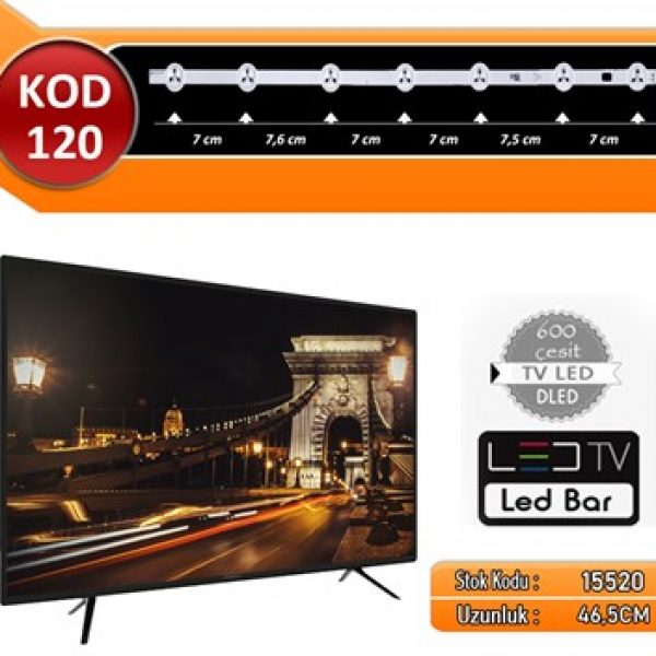 TV BAR LED VESTEL KOD 120 46.50 CM 7 LED A