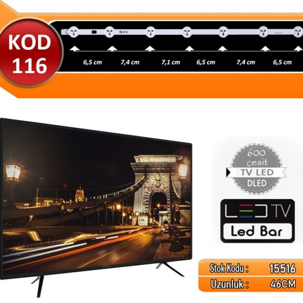 TV LED BAR DLED VESTEL KOD 116 46.CM 7 LED