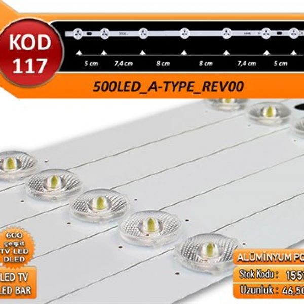 TV LED BAR DLED VESTEL 500LED_A-TYPE_REV00 7LED 46,5CM KOD 117