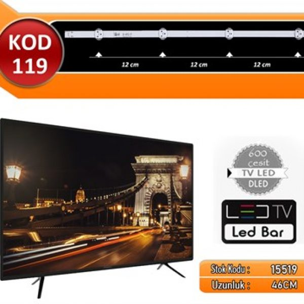 TV LED BAR VESTEL KOD 119 46.00 CM 4 LED