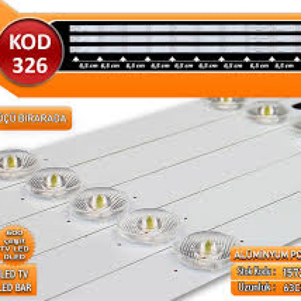 TV LED BAR DLED OLİMPİA-SKYTECH 63CM (ÜÇLÜ TAKIM) KOD 326