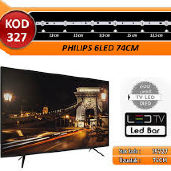 TV LED BAR DLED PHILIPS 74CM 6 LED ÜÇLÜ TAKIM KOD327