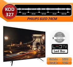 TV LED BAR DLED PHILIPS 74CM 6 LED ÜÇLÜ TAKIM KOD327