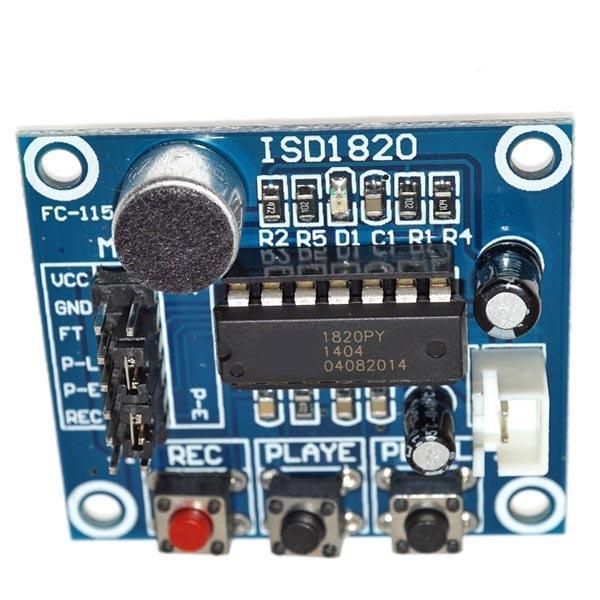 ISD1820 Ses Kayıt Modülü (Mikrofonlu)