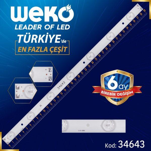 1115-35R1 - 180-W00-390000H IC-B-HWT39D060L 39 Cm Tv Led Bar