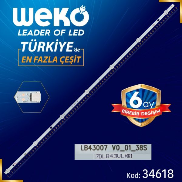 17DLB43VLXR1 A LB43007 VD_01_38S 80.2 Cm Tv Led Bar
