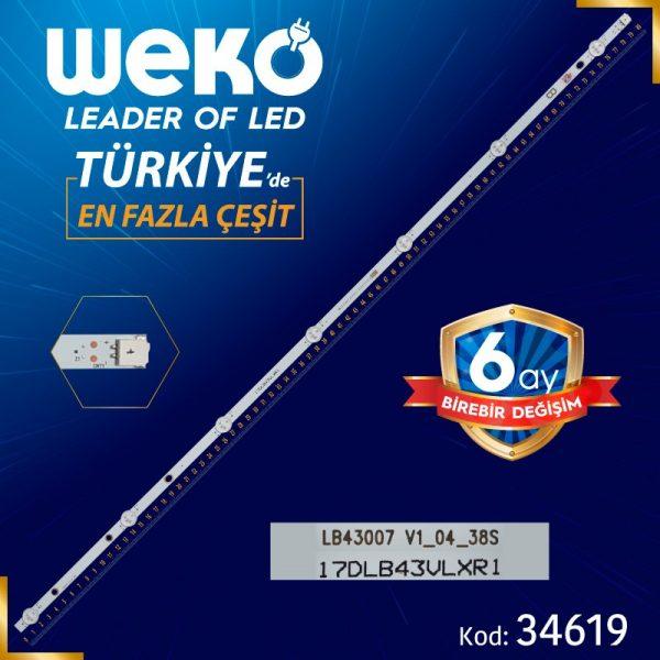 17DLB43VLXR1 B LB43007 V1_04_38S 80.2 Cm WK-403 TV Led Bar