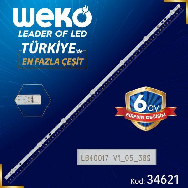 17DLB40VXR1 B TYPE LB40017 V1_05_3 74.5 Cm WK-111 Tv Led Bar